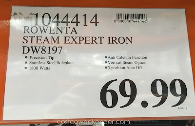 Deal for the Rowenta Steam Expert Iron at Costco