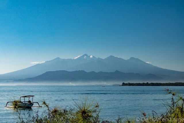 Vue sur Lombok de Gili Meno - Bali Lombok