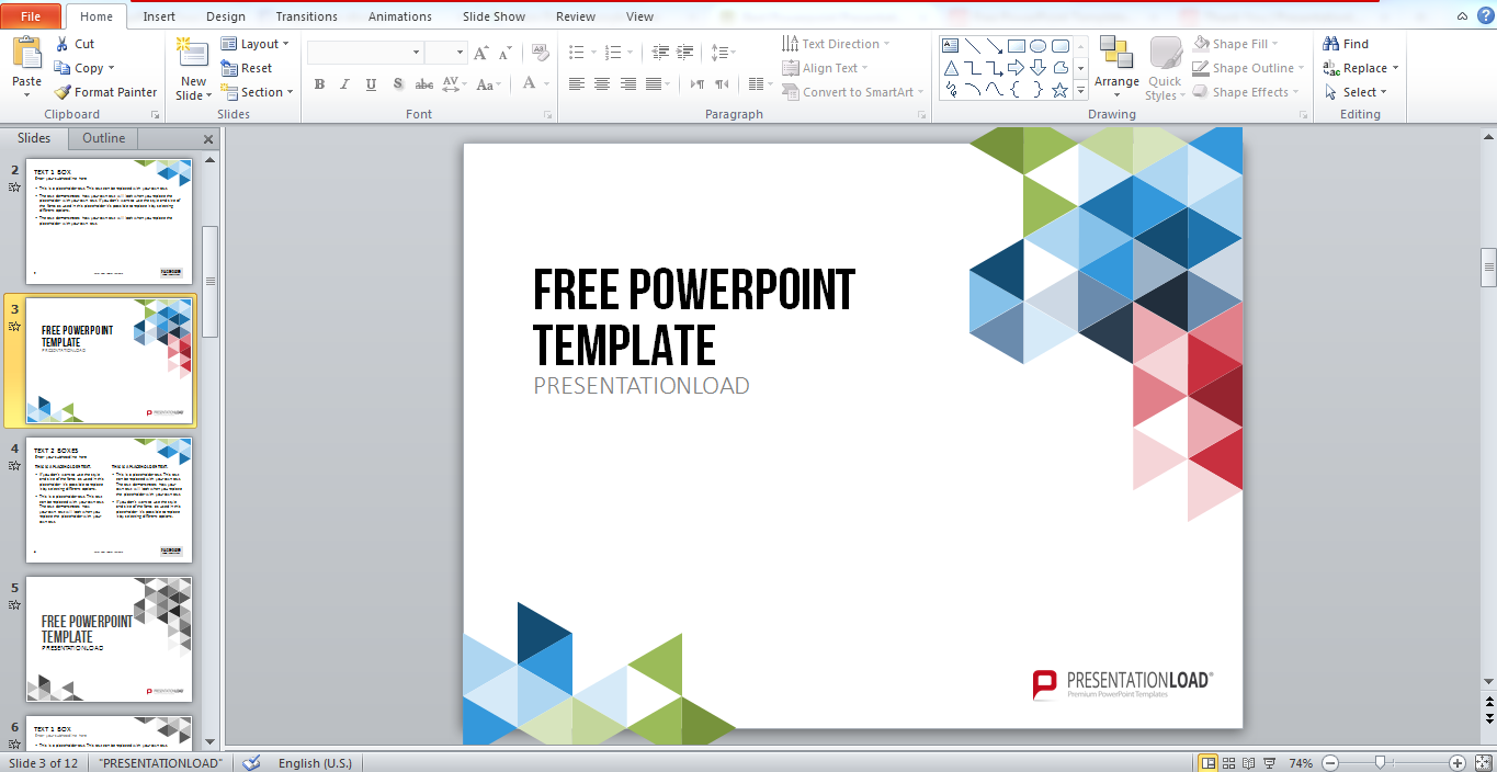 Model template presentation powerpoint.