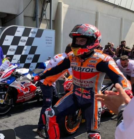Marc Marquez Juara Motogp Le Mans 2018