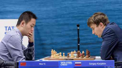 Tata Steel Chess R11: le jeune Chinois Wei Yi bat le Russe Sergey Karjakin - Photo © site officiel