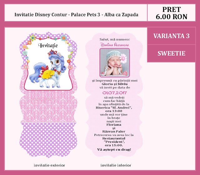invitatii botez contur Palace Pets 3
