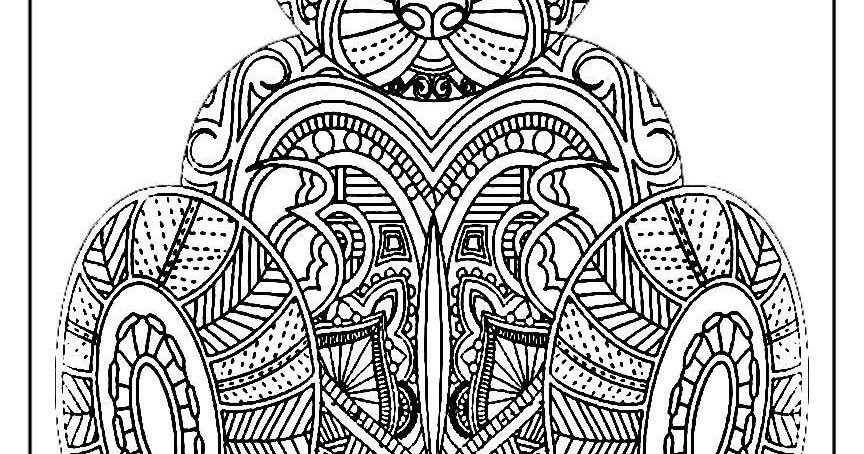 Bear Coloring Pages For Adult Printable