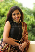 Lasya looks super cute in black choli Saree at Raja Meru Keka Press Meet ~  Exclusive 026.JPG
