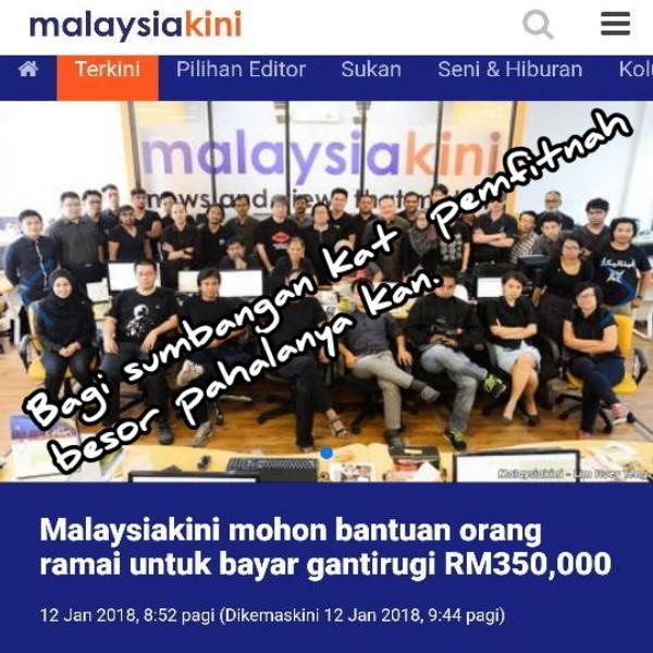 Malaysiakini: Sendiri Buat Fitnah, Rakyat Pula Kena Tanggung Samalah Dengan Rafizi