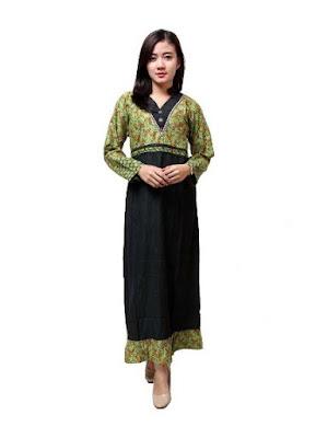 Model Gamis Batik Pesta modis
