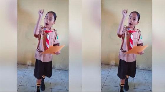 Bikin Heboh! Video Bocah SD Baca Puisi Ini Mendadak Viral