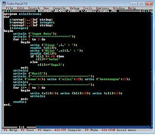 Algoritma dan Pemrograman Pascal