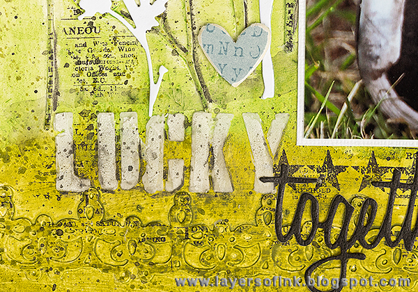 Layers of ink - Make a Wish Mixed Media Layout Tutorial by Anna-Karin, with Sizzix dies by Tim Holtz