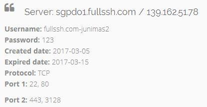 Akun SSH SGDO Gratis