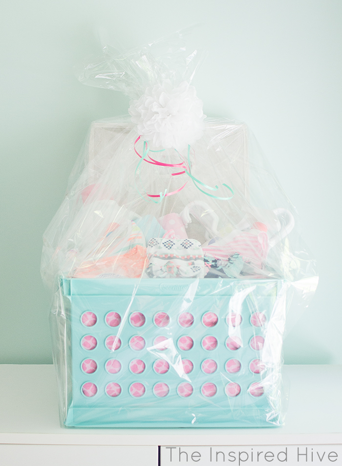 Laundry basket baby shower gift the inspired hive laundry gift basket great idea for a baby shower gift negle Gallery