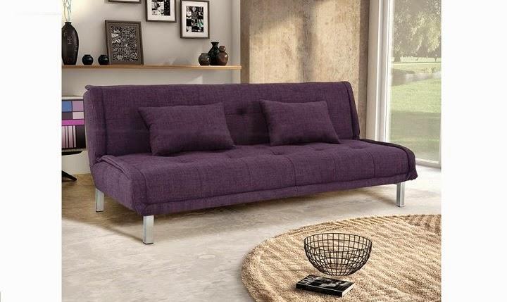 sofá roxo