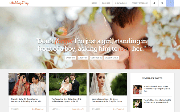 Wedding Mag Free Blogger Template