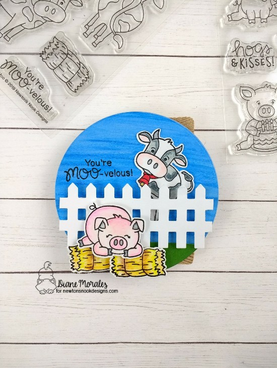 You're Moo-velous! by Diane features Moo, Oink, and Fence by Newton's Nook Designs; #newtonsnook