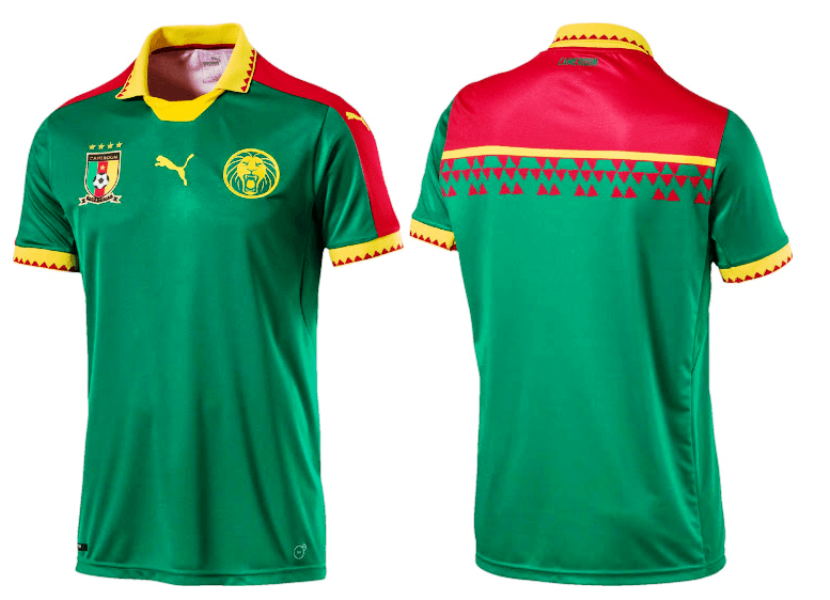6463e11a4 AFCON 2017  Cameroon unveils new kit