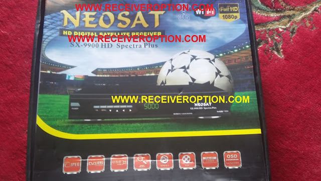 NEOSAT SX-9900 HD SPECTRA PLUS RECEIVER CCCAM OPTION