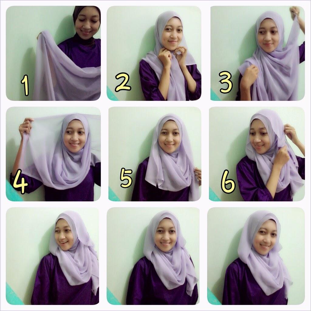 Tutorial Hijab Segi Empat Untuk Hangout Tutorial Hijab Paling