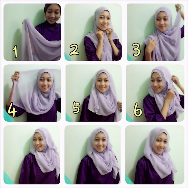 Tutorial Hijab Paris Segi Empat Tutorial Hijab Segi Empat Dian