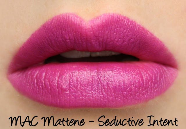 MAC MONDAY | Taste Temptation - Seductive Intent Mattene Swatches & Review