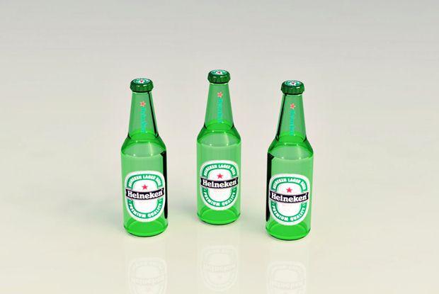 botellas de Heineken diseñadas con Solidworks