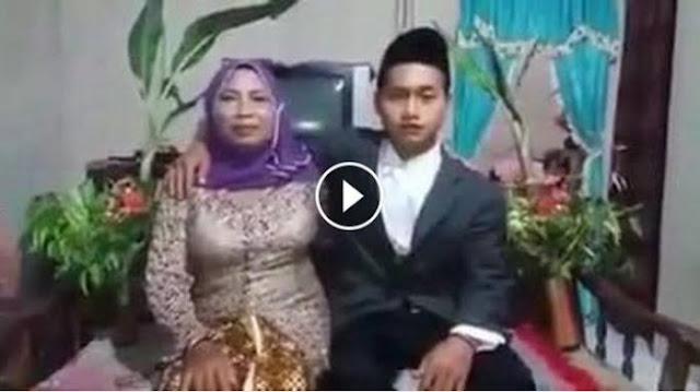 Pemuda 24 Tahun Ini Nikahi Janda Berusia 67 Tahun, Lihat Video Saat Mereka Berada Di Pelaminan!