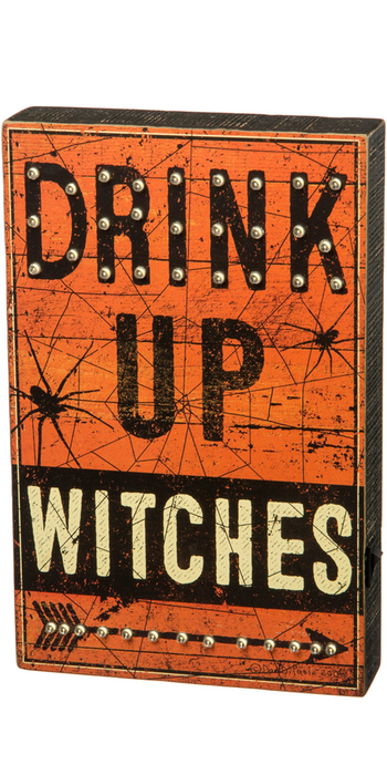 PRIMITIVES BY KATHY 'Drink Up Witches' LED Box Sign