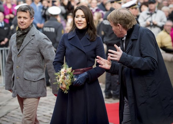 The Crown Prince Couple's Awards 2016 ceremony. Crown Princess Mary wore wool blue coat