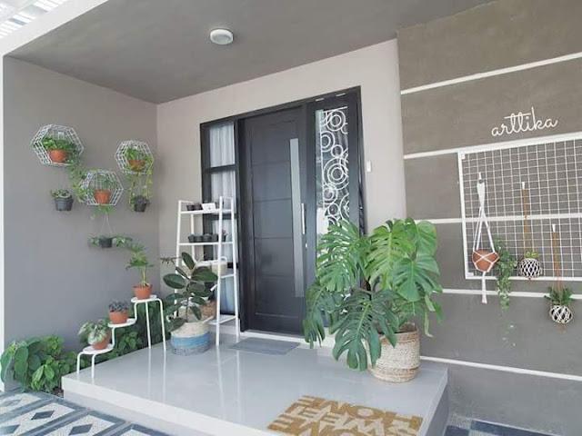 Contoh Desain Teras Rumah Minimalis Tipe 45 Sederhana