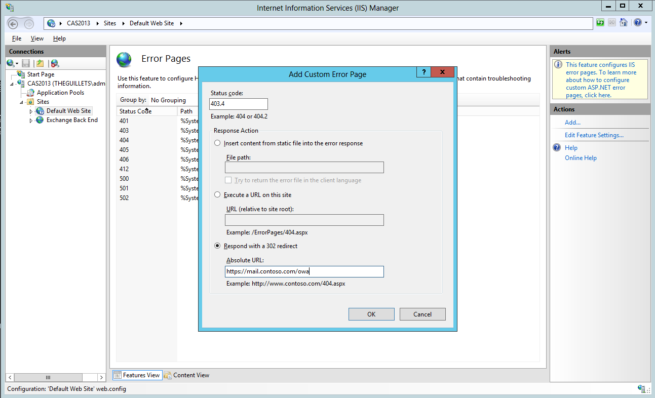Sitehttpsfaithroots Net: OWA 2013 CU1 Redirection Is Broken For Legacy Mailboxes