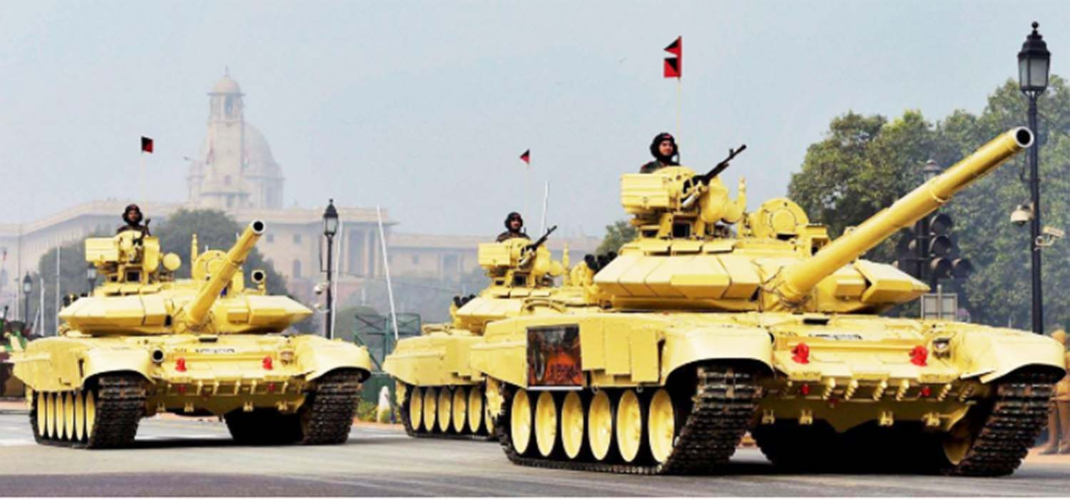Army tank rally on republic day procession