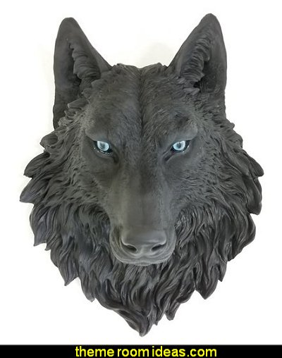 Wolf Head Wall Mount   twilight bedroom decorating ideas - twilight bedroom decor - twilight bedroom ideas  -  twilight saga home decor - twilight saga themed bedroom ideas - bedding ideas for a twilight bedroom  - twilight jacob bedroom ideas  -  twilight edward bedroom decorating ideas -  twilight bella swan bedroom ideas -  Twilight Edward vampire bedroom - Twilight Saga Movie Posters  - Twilight themed bedroom for teens - movie themed bedroom ideas
