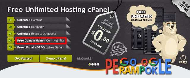 hosting unlimited dan domain gratis terbaru