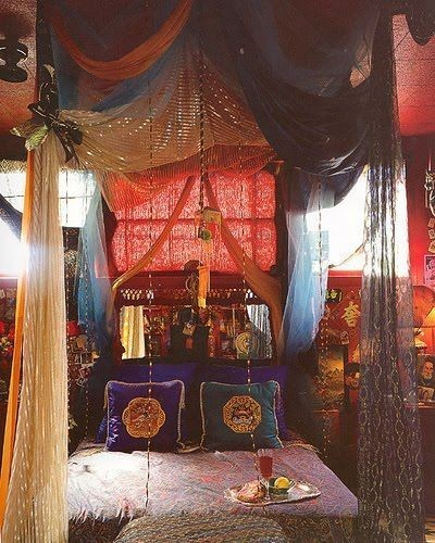 Colorful Boho Room: Drowning In A Boho Canopy Bed!