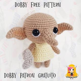 PATRON GRATIS DOBBY | HARRY POTTER AMIGURUMI 39379