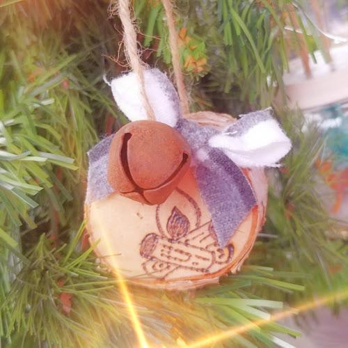 Wood Burned Wood Slice Ornaments