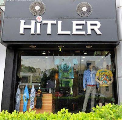 Witziges Firmen Logo Kleiderladen Hitler