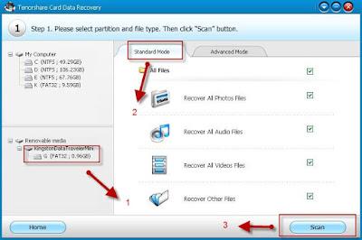 استرداد الفيديوهات والصوتيات لبطاقة الذاكرة