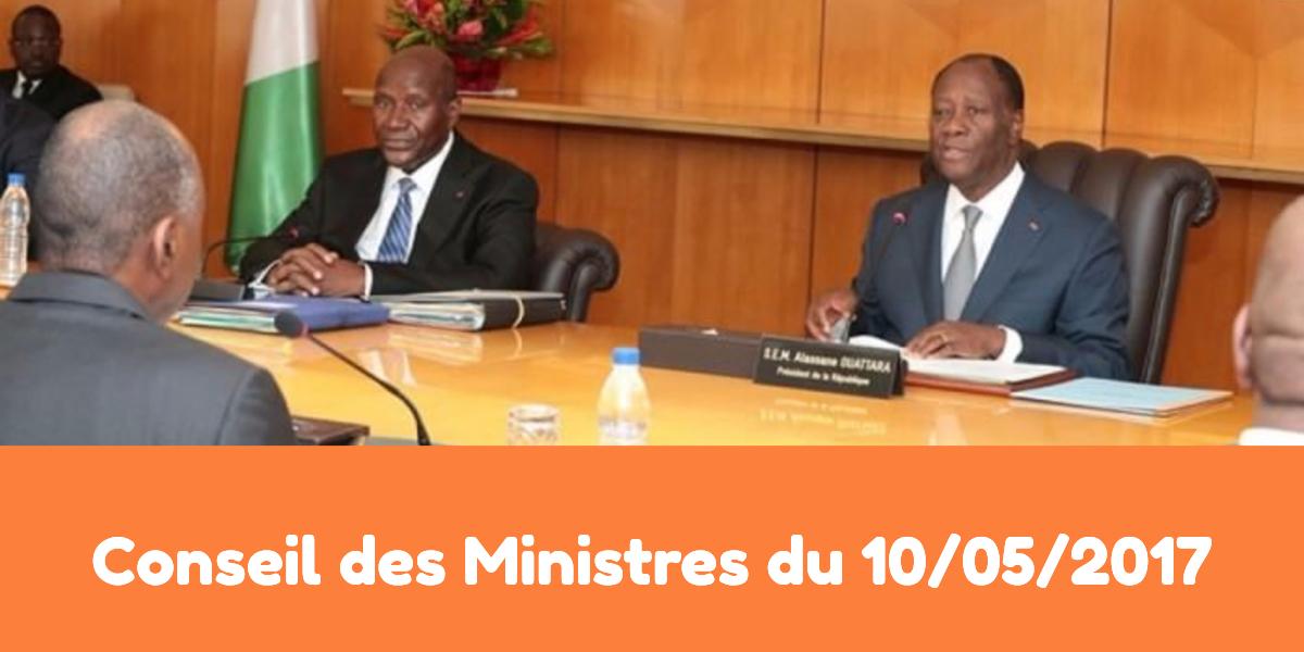 Conseil des ministres ivoirien du 10-05-2017