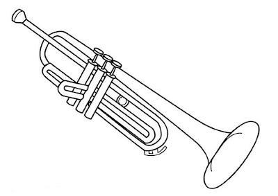trompeta para colorear y pintar 4 dibujo