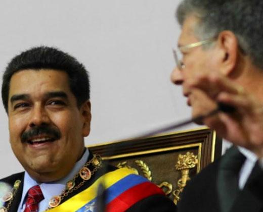 El contradictorio discurso de Maduro hacia Ramos Allup