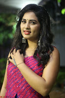Srushti in beautiful Pink Sleeveless Dress Cute Actress Dimples ~  Exclusive 013.JPG