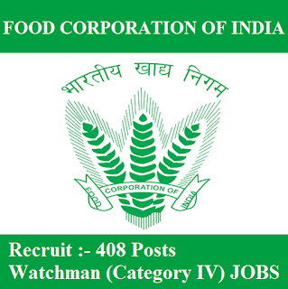 Food Corporation of India, FCI, Uttar Pradesh, UP, Watchman, 10th, freejobalert, Sarkari Naukri, Latest Jobs, fci up logo