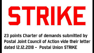 Postal Union Strike 2 days-Demands