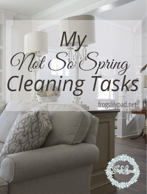 My Not So Spring Cleaning Tasks