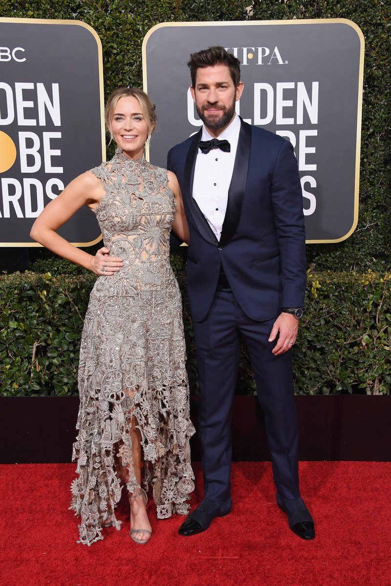 Emily Blunt goes sophisticated in Alexander McQueen at the 2019 Golden Globes