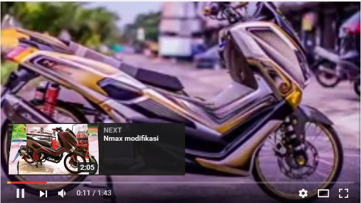 video  modifikasi yamaha nmax  keren gunakan