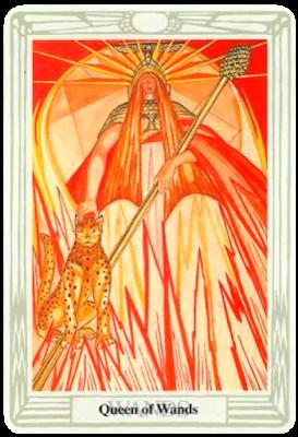 Queen of Wands Thoth tarot Crowley Tarot blog blogger Frieda Harris