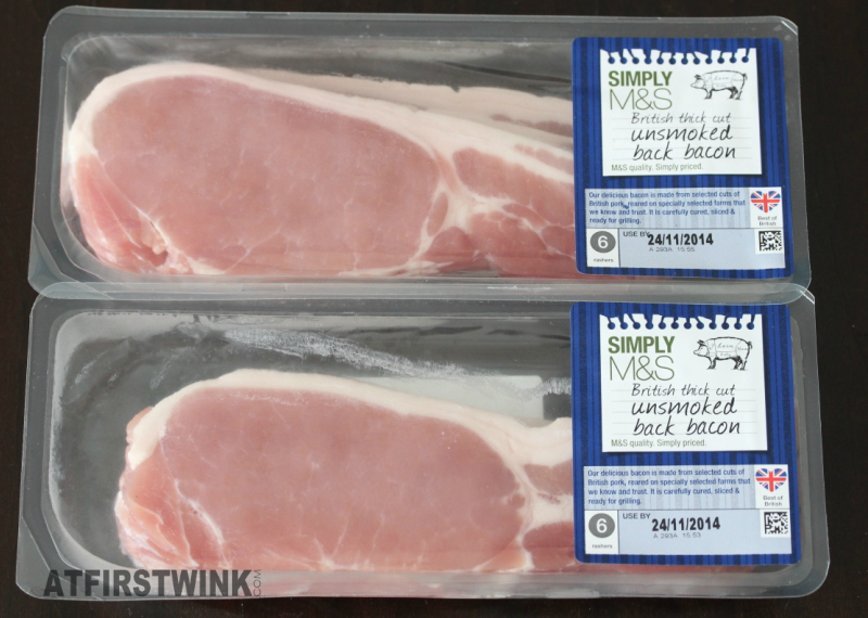 Simply M&S British thick cut unsmoked back bacon