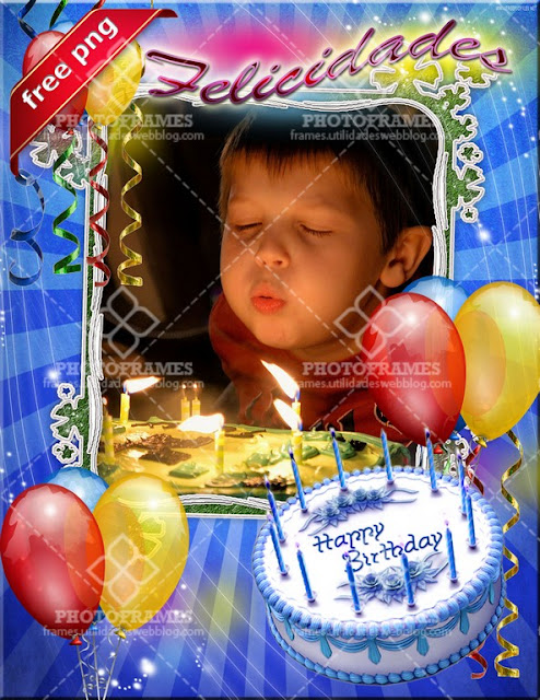 Marco png para fotomontajes de cumpleaños