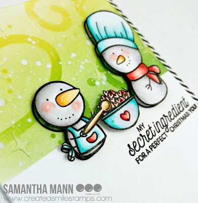 Secret Christmas Ingredient Card by Samantha Mann for Create a Smile Stamps, Christmas, Cards, Distress Inks, Stencil, #createasmile #stamps #cards #christmas #stencil #distressinks #inkblending